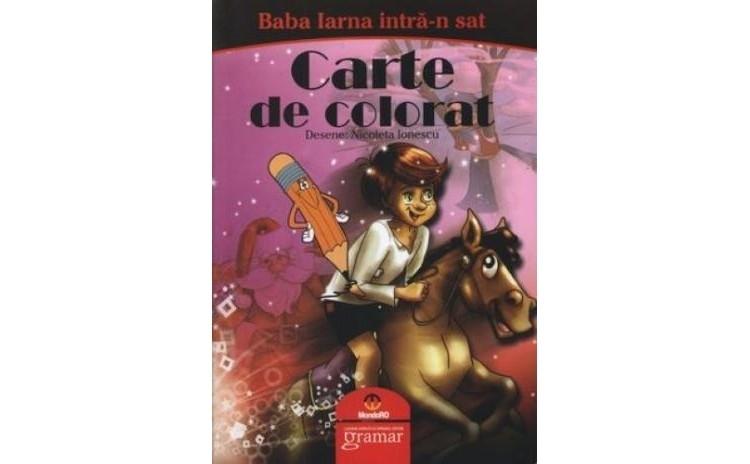 Baba Iarna intra-n sat - carte de colorat, autor Fara Autor