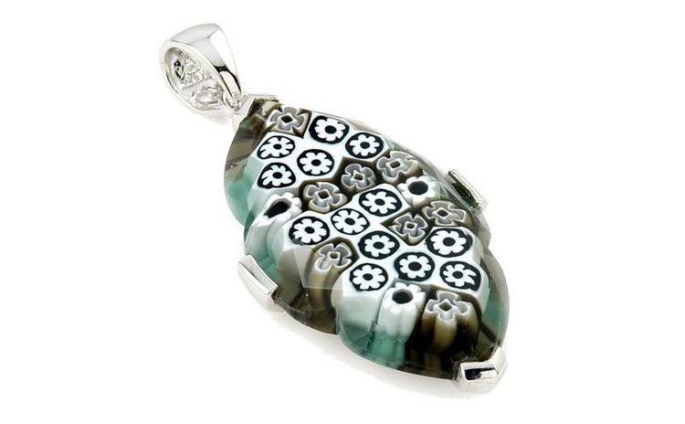 Pandantiv argint 925 cu sticla Murano