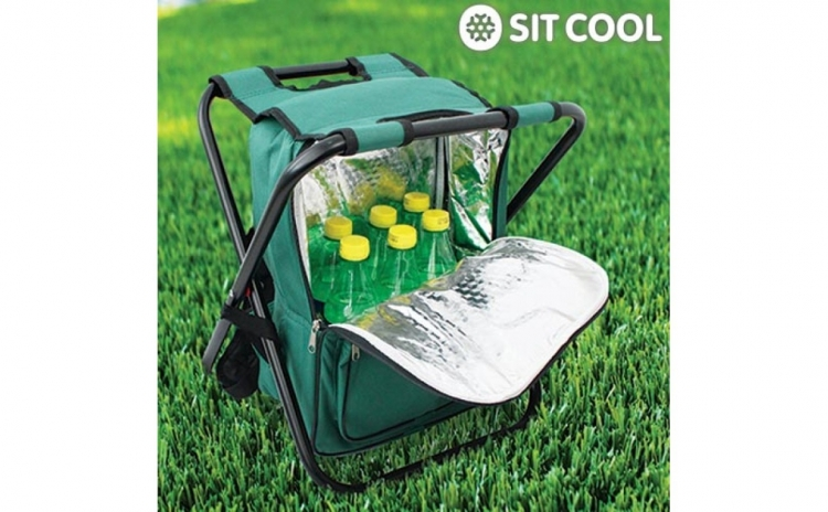 3 in 1 Sit Cool | Scaun pliabil, geanta termoizolanta. Comod si practic. Redus la 118 RON in loc de 210 RON