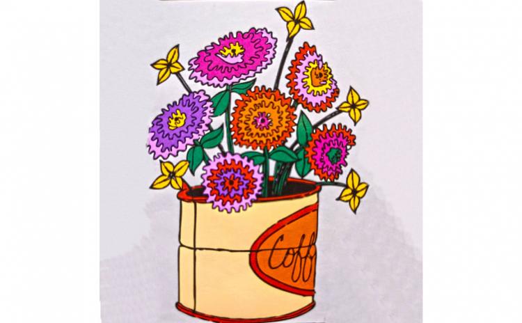 "Set pictura pe numere ""Flori"" 30x20"