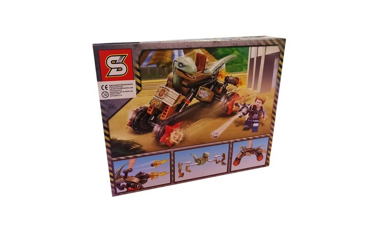 Set de constructii cuburi, Dinozauri,