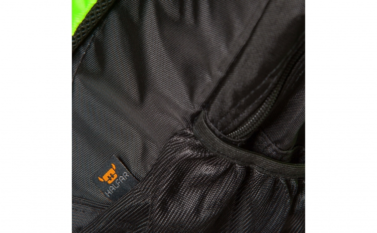 Imagine indisponibila pentru Rucsac ghiozdan unisex - cu 2 fermoare Halfar, negru/verde