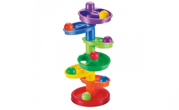 Set de joaca - Tobogan cu 7 bile colorat