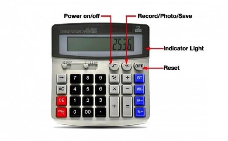 Calculator de birou cu camera spion