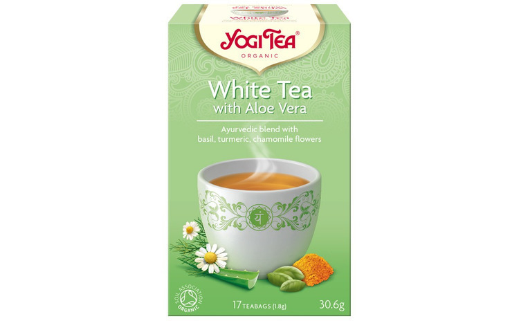 Ceai Bio Alb cu Aloe Vera, 30.6gr Yogi