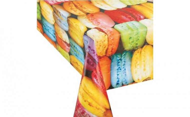Fata de masa laminata Macarons 180x140