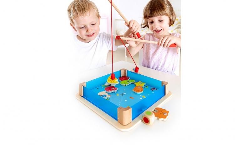 Joc de pescuit din lemn cu magneti