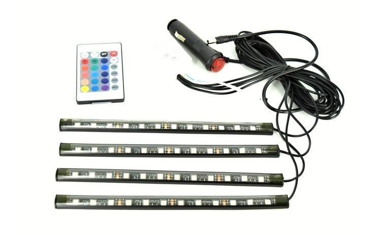 Kit interior LED 12 SMD RGB cu