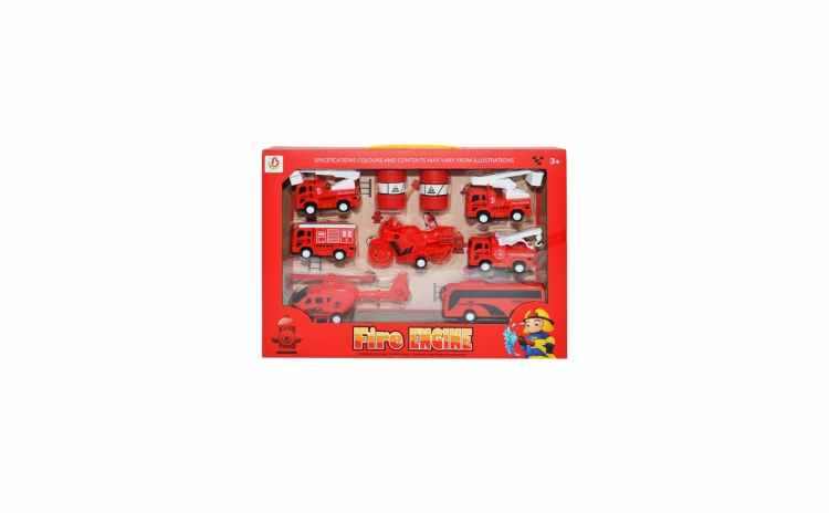 Set pompieri cu vehicule,containere