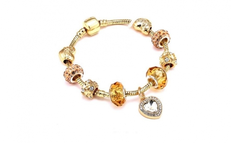 Bratara Charm Gold Sweet Heart cu Au 18K