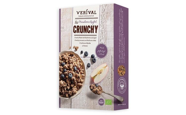 Musli Crunchy afine si mere 325g Verival