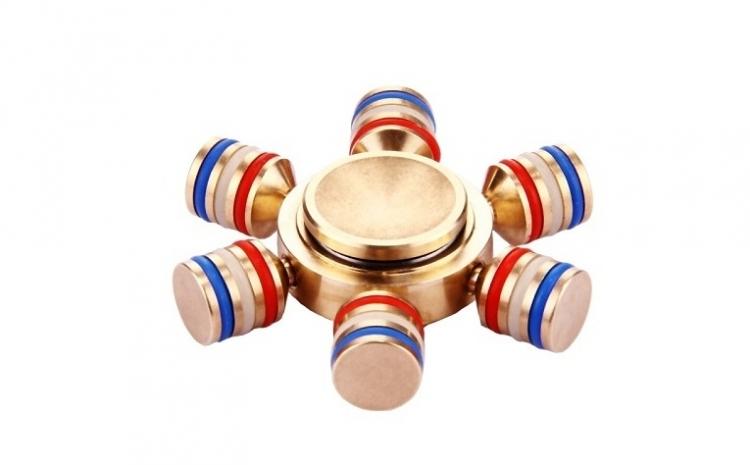 Fidget Spinner Metalic Multicolor 6 Bullets  La 87 Ron In Loc De 99 Ron