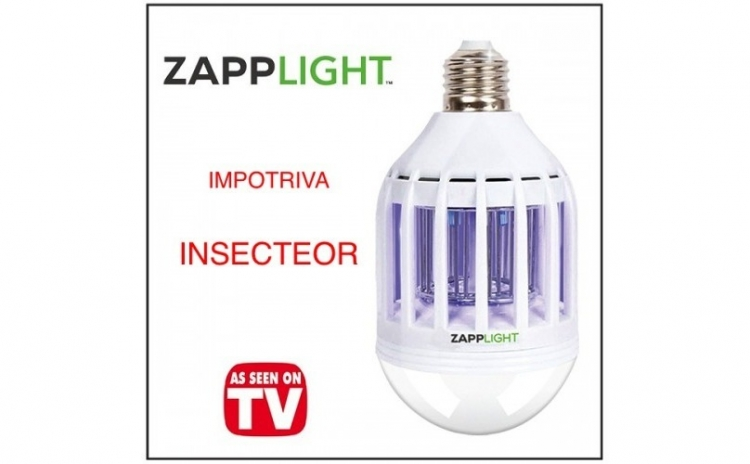 Imagine indisponibila pentru Bec 2 in 1 cu lampa UV impotriva insectelor, la doar 46 RON in loc de 99 RON