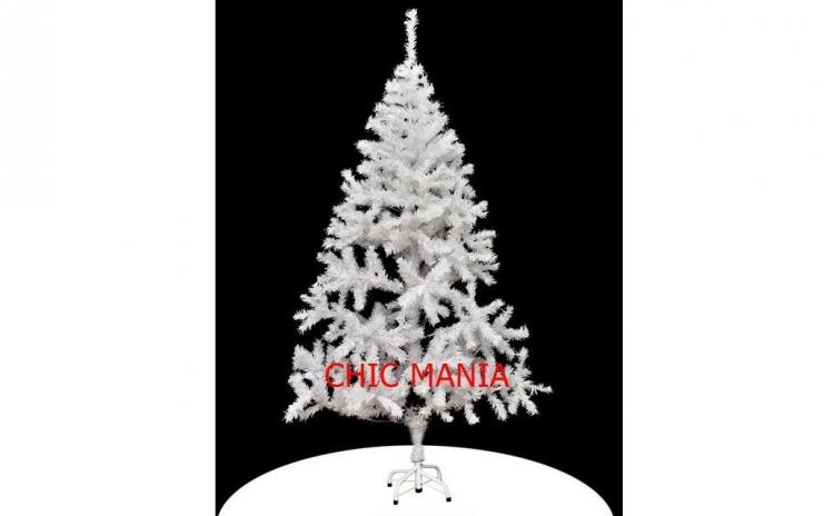 Brad artificial alb, Premium, pentru Craciun, 180 cm, calitate superioara