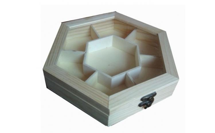 Caseta din lemn organizator
