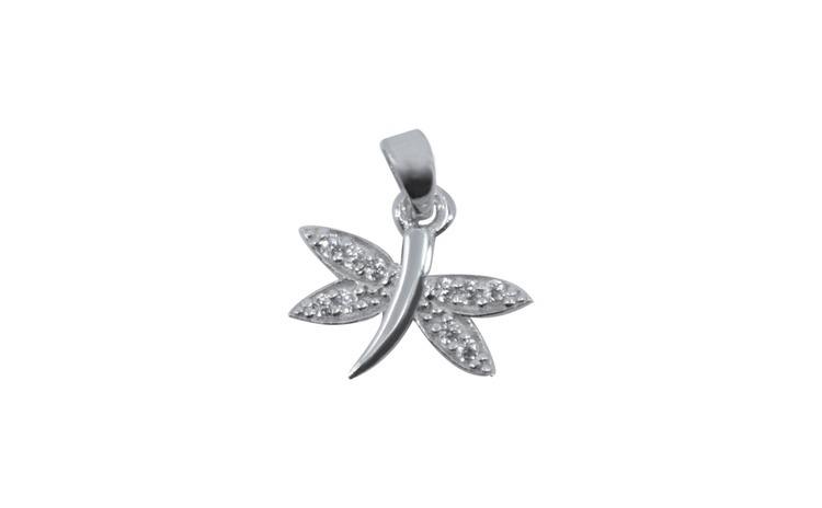 Pandantiv Argint 925 Libelula cu Pietre