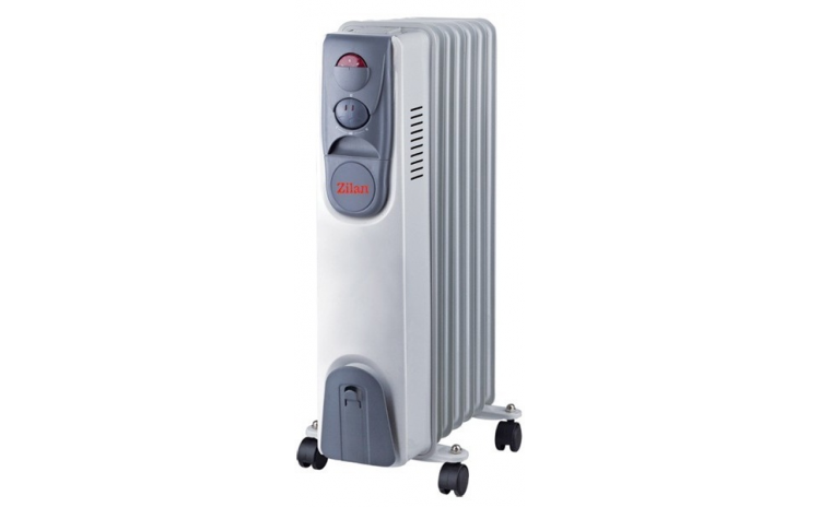 Calorifer Electric Zilan Zln-2104  7 Elementi  Putere 1500 W  3 Trepte De Putere  Termostat De Siguranta  Termostat Reglabil
