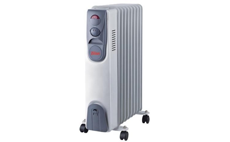 Calorifer Electric Zilan Zln-2111  9 Elementi  Putere 2000 W  3 Trepte De Putere  Termostat De Siguranta  Termostat Reglabil