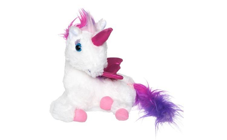 Unicorn de plus cu lumini. 24 cm.