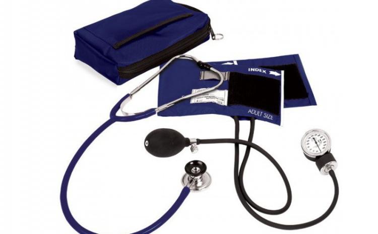 Tensiometru cu stetoscop si manometru