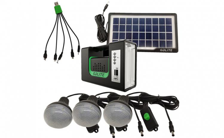 Kit panou solar cu 3 becuri