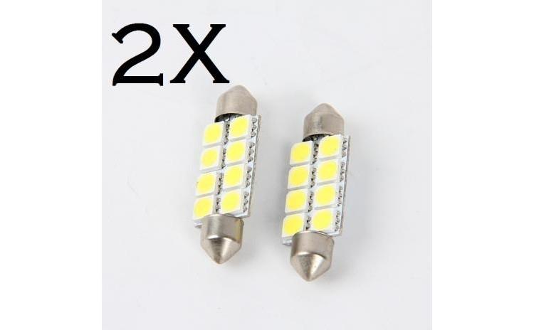 2 X Festoon 41mm 12 LED SMD Festoon