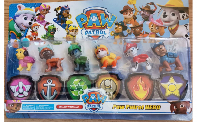 Set 6 figurine Patrula Catelusilor