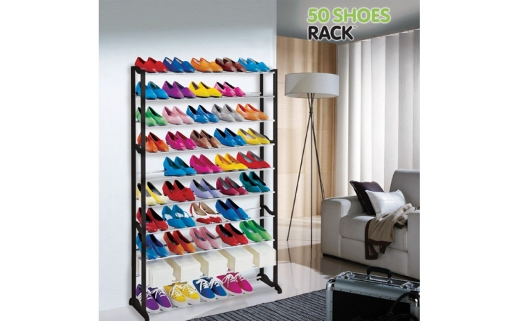 Stativ pentru pantofi 50 Shoes Rack. In sfarsit, pantofii dumneavoastra vor fi totdeauna organizati