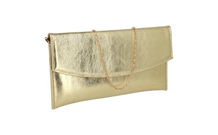 Plic elegant din piele naturala auriu