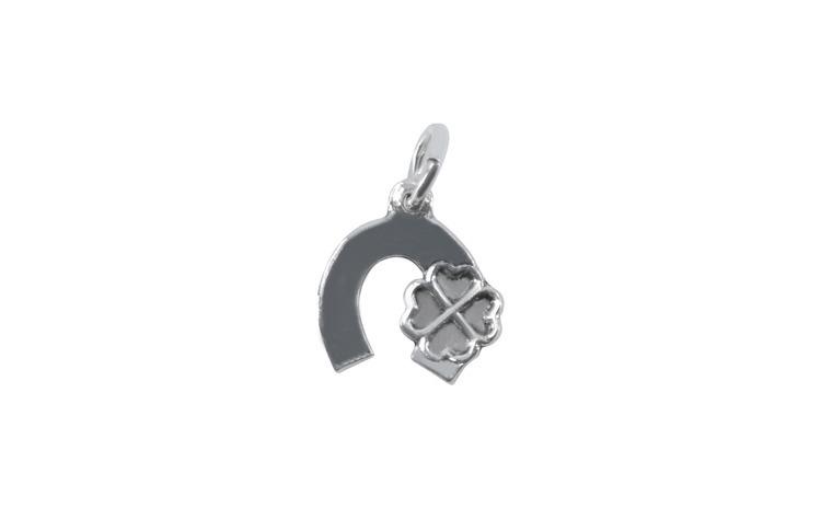 Pandantiv Argint 925 Potcoava cu Trifoi