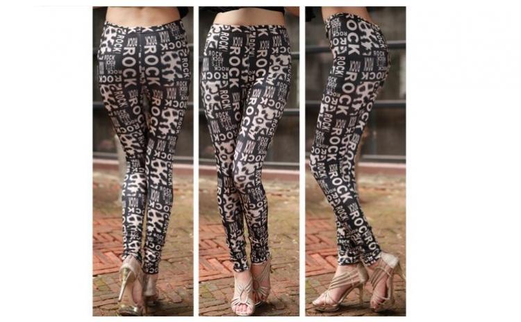 NOU! Colanti tattoo print dama dress, la 69 RON in loc de 199 RON
