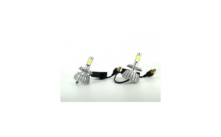 Set Bec LED X01 2 buc H4 2 Faze 6000K