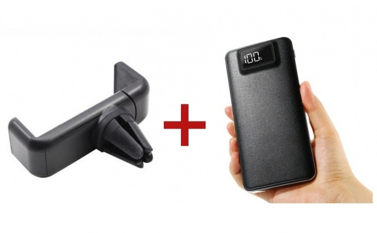 Baterie externa + Suport de telefon pentru grila cadou