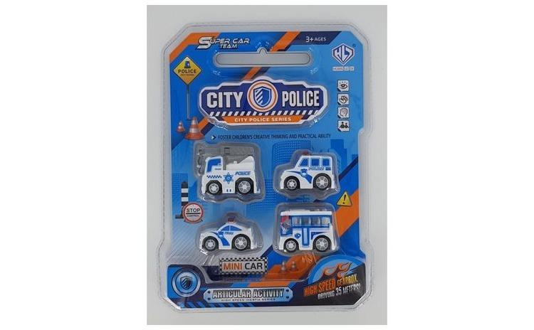 Set 4 masinute de Politie