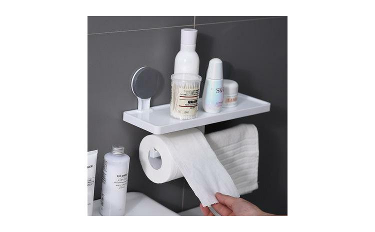 Suport hartie igienica cu raft si suport