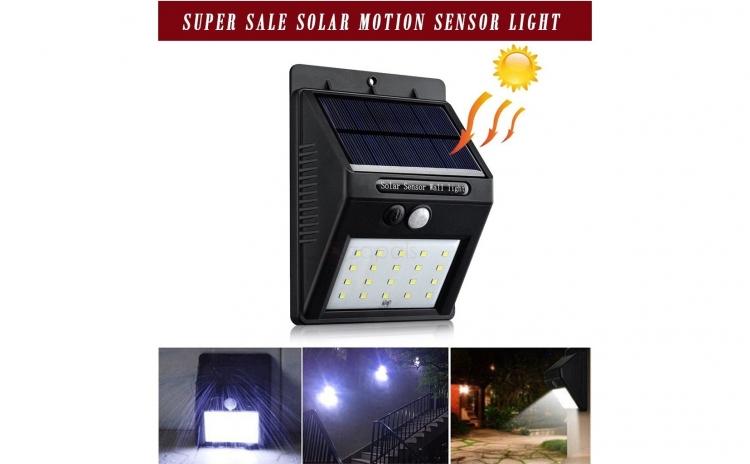 Set Lampi Solare.Set Doua Lampi Solare Cu 20 Led Uri Si Senzor De Amurg Si