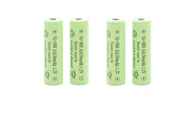 4 Acumulatori AA, 150 mAh, 1.2 V