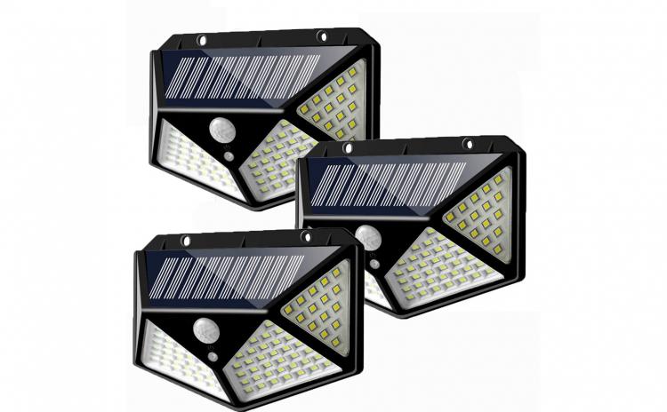 Set 3 x Lampa  Led cu panou solar