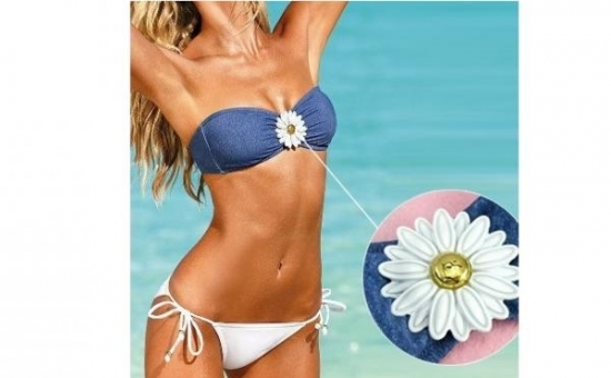 Costum de baie BLUE FLOWER