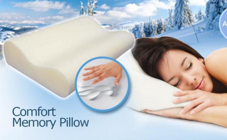 Bucura-te De Un Somn Linistit Si Odihnitor Cu Ajutorul Pernei Cu Memorie Comfort Memory Pillow  La Doar 79 Lei In Loc De 157 Lei