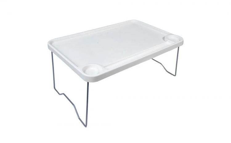 Masă - Tavă pliantă din plastic, alb