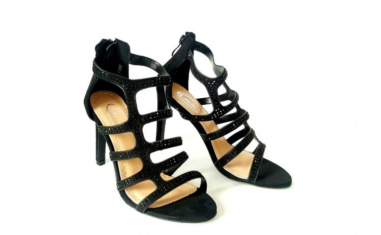 Sandale dama Melinda, negre, cu toc - Arhivat a8bf187533a