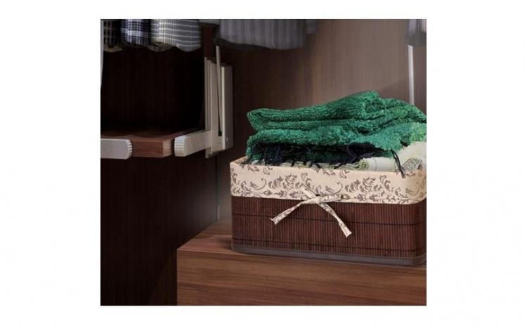 Imagine indisponibila pentru Cos depozitare pliabil din bambus + husa cadou