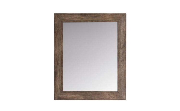 Oglinda de perete, cadru din lemn maro
