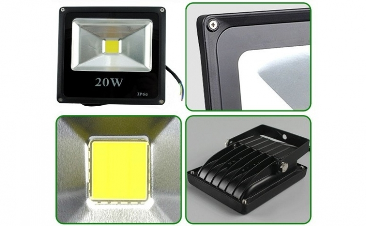 Proiector Slim de 20W cu LED COB perfect pentru iluminare exterioara la numai 79 RON in loc de 199 RON