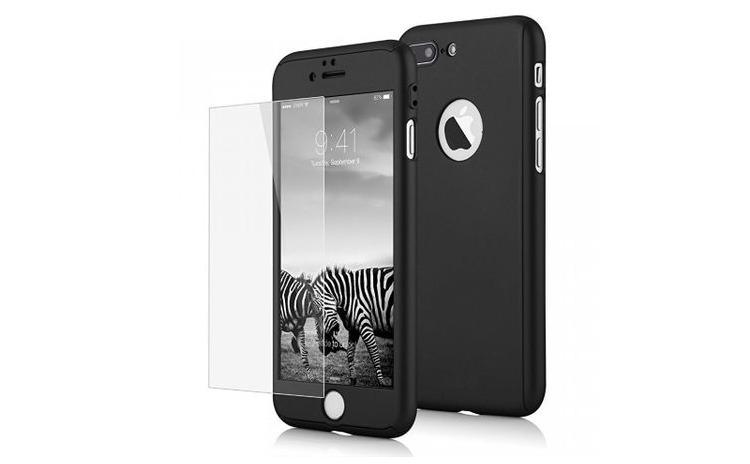 Husa Iphone 5/5s Full Cover+folie,Negru