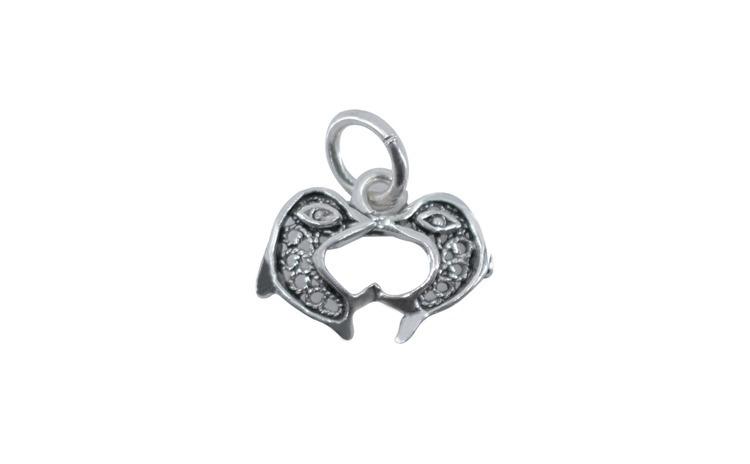 Pandantiv Argint 925, Cuplu Delfini +