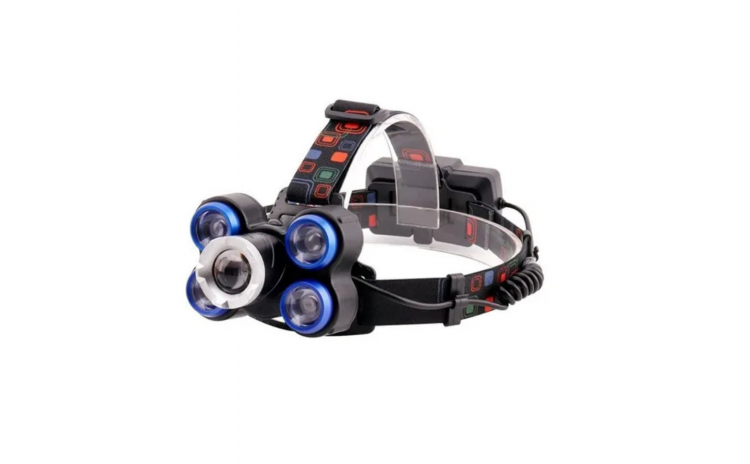 Lanterna frontala de cap 5 LED reglabila