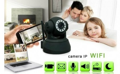 Ai grija de familia ta, chiar daca esti departe! Camera de supraveghere IP Interior EasyN Audio Wireless IP + conectare la internet + Night vision + Posibilitate inregistrare, la doar 239 RON in loc de 599 RON
