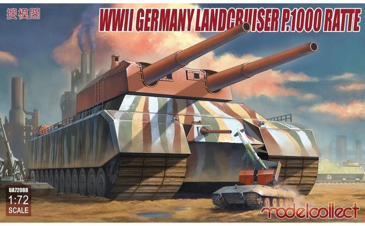 1:72 WWII German Landcruiser P.1000
